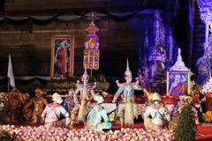 Τελετή πένθους πατριαρχών ναών Luang Chedi Στοκ εικόνες με δικαίωμα ελεύθερης χρήσης
