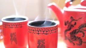 Τελετή τσαγιού, κινεζικά απόθεμα βίντεο