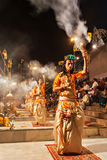 Τελετουργικό Aarti Ganga Στοκ Εικόνα