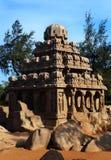 Τελευταία αίθουσα πέντε rathas-αρχαίων γλυπτών πετρών mahabalipuram ενιαίων Στοκ φωτογραφία με δικαίωμα ελεύθερης χρήσης