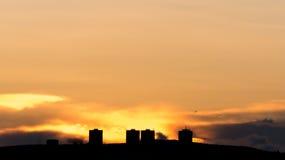 Τελευταία πρακτικά του ηλιοβασιλέματος Στοκ Εικόνες