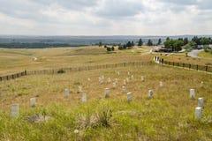 Τελευταία στάση Custer με τους δείκτες για κάθε μια από πεσμένη Στοκ Εικόνες
