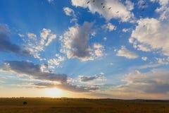 Τελευταίες ακτίνες του φωτός του ήλιου της ημέρας Στοκ Εικόνες
