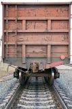 Τελευταίο αυτοκίνητο του τραίνου. Στοκ Εικόνες