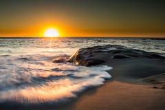 Τελευταίο ηλιοβασίλεμα το 2014, Καλιφόρνια Στοκ εικόνα με δικαίωμα ελεύθερης χρήσης
