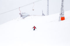 Τελεφερίκ βουνών χιονιού, Elbrus, Ρωσία Στοκ εικόνες με δικαίωμα ελεύθερης χρήσης