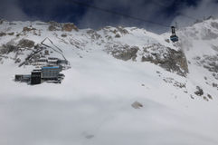 Τελεφερίκ παγετώνων Zugspitze Στοκ Φωτογραφίες