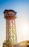 Τελεφερίκ πύργος στη Βαρκελώνη Στοκ Εικόνα