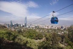 Τελεφερίκ στο Σαντιάγο de Χιλή Στοκ εικόνες με δικαίωμα ελεύθερης χρήσης