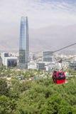 Τελεφερίκ στο Σαντιάγο de Χιλή Στοκ φωτογραφία με δικαίωμα ελεύθερης χρήσης