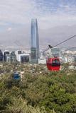 Τελεφερίκ στο Σαντιάγο de Χιλή Στοκ Φωτογραφίες