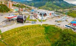 Τελεφερίκ στο Manizales, Κολομβία στοκ εικόνες