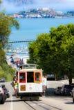 Τελεφερίκ του Σαν Φρανσίσκο powell-Hyde, Alcatraz Στοκ φωτογραφία με δικαίωμα ελεύθερης χρήσης