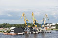 Τελικός λιμένας άνθρακα της Ρήγας Στοκ φωτογραφία με δικαίωμα ελεύθερης χρήσης