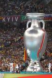 Τελικός Ισπανία του 2012 ΕΥΡΏ UEFA εναντίον της Ιταλίας Στοκ Εικόνες