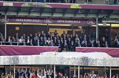 Τελικός Ισπανία του 2012 ΕΥΡΏ UEFA εναντίον της Ιταλίας στοκ εικόνα