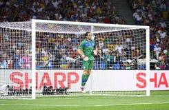 Τελικός Ισπανία του 2012 ΕΥΡΏ UEFA εναντίον της Ιταλίας Στοκ εικόνες με δικαίωμα ελεύθερης χρήσης