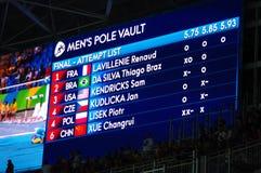 Τελικό ανταγωνισμού υπόγειων θαλάμων Πολωνού στους Ολυμπιακούς Αγώνες Rio2016 Στοκ εικόνες με δικαίωμα ελεύθερης χρήσης