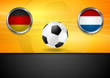 Τελικό ποδόσφαιρο Γερμανία και Κάτω Χώρες στη Βραζιλία Στοκ Εικόνα