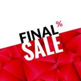 Τελικό υπόβαθρο εμβλημάτων πώλησης διανυσματικό Προωθητική αφίσα μάρκετινγκ Τελικό υπόβαθρο πώλησης για το κατάστημα καταστημάτων απεικόνιση αποθεμάτων