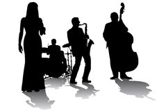 τζαζ συναυλίας Στοκ εικόνες με δικαίωμα ελεύθερης χρήσης