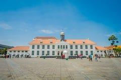 ΤΖΑΚΑΡΤΑ, ΙΝΔΟΝΗΣΙΑ - 3 ΜΑΡΤΊΟΥ 2017: Κτήριο μουσείων ιστορίας της Τζακάρτα όπως βλέπει από πέρα από το plaza μια όμορφη ηλιόλουσ Στοκ φωτογραφία με δικαίωμα ελεύθερης χρήσης