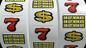 Τζακ ποτ μηχανημάτων τυχερών παιχνιδιών με κέρματα ελεύθερη απεικόνιση δικαιώματος