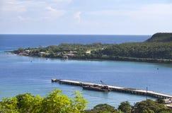Τζαμάικα θάλασσα βουνών τοπίων της Τζαμάικας ημέρας ηλιόλουστη Στοκ φωτογραφίες με δικαίωμα ελεύθερης χρήσης