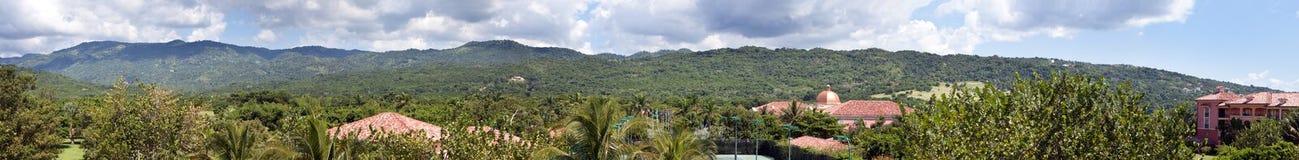 Τζαμάικα πανόραμα Όψη των βουνών Στοκ Εικόνα