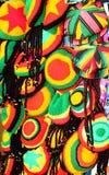 Τζαμαϊκανά χρώματα/καπέλα Τζαμάικα Στοκ Φωτογραφίες