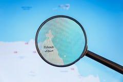 Τζιμπουτί, Τζιμπουτί Πολιτικός χάρτης στοκ εικόνες