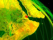 Τζιμπουτί στην ψηφιακή σφαίρα στοκ εικόνα