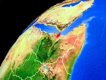 Τζιμπουτί στη γη από το διάστημα στοκ εικόνες