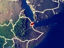 Τζιμπουτί στη γη τη νύχτα στοκ εικόνες