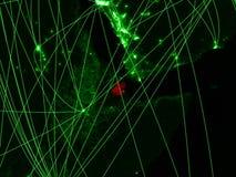 Τζιμπουτί στον πράσινο χάρτη στοκ φωτογραφία