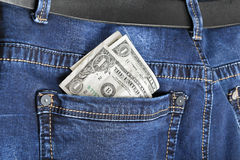 Τζιν με το αμερικανικό δολάριο Στοκ φωτογραφίες με δικαίωμα ελεύθερης χρήσης