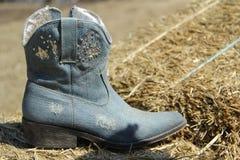 Τζιν μόδας cowboots Στοκ Φωτογραφία
