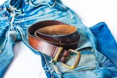 τζιν παντελόνι ανασκόπησης συμπαθητικό Στοκ Εικόνες