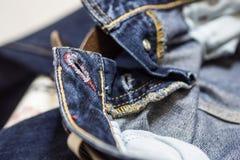 Τζιν παντελόνι κουμπιών Στοκ εικόνα με δικαίωμα ελεύθερης χρήσης
