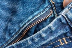 Τζιν φερμουάρ σύσταση τζιν υφάσματος λεπτομέρειας τζιν βαμβακιού στοκ εικόνα με δικαίωμα ελεύθερης χρήσης
