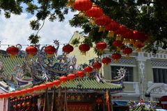 Τζωρτζτάουν, penang, Μαλαισία κινεζικό νέο έτος φαναριών Στοκ φωτογραφίες με δικαίωμα ελεύθερης χρήσης