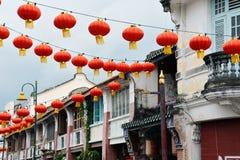 Τζωρτζτάουν, penang, Μαλαισία κινεζικό νέο έτος φαναριών Στοκ Φωτογραφία