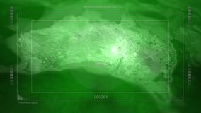 Τηγάνια καμερών πέρα από την Αυστραλία με τη δορυφορική επικάλυψη κατασκόπων ελεύθερη απεικόνιση δικαιώματος