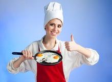 τηγάνισμα αυγών καλό πολύ Στοκ Φωτογραφία