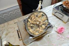 Τηγάνι κρέατος κοτόπουλου Στοκ εικόνα με δικαίωμα ελεύθερης χρήσης