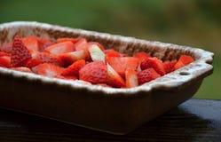 Τηγάνι της φράουλας Στοκ εικόνες με δικαίωμα ελεύθερης χρήσης