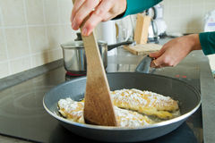 τηγανίζοντας μπριζόλα σο&la Στοκ φωτογραφία με δικαίωμα ελεύθερης χρήσης