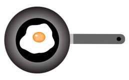 τηγανίζοντας πανοραμική λήψη αυγών διανυσματική απεικόνιση