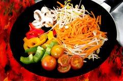 τηγανίζοντας παν λαχανικό Στοκ φωτογραφίες με δικαίωμα ελεύθερης χρήσης