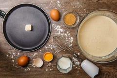 Τηγανίζοντας τηγάνι με το πετρέλαιο, κύπελλο Στοκ φωτογραφίες με δικαίωμα ελεύθερης χρήσης